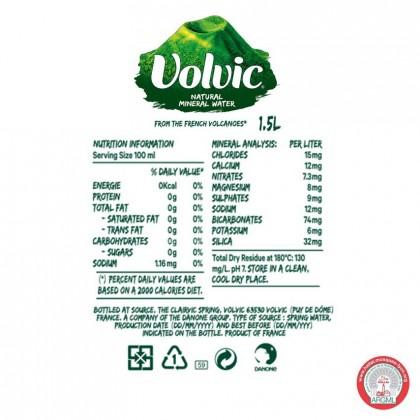 Volvic Natural Mineral Water 12x1.5L