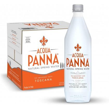 Acqua Panna Natural Spring Water (Plastic Bottle) 12x1L