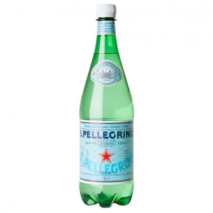 San Pellegrino Sparkling Natural Mineral Water Plastic Bottle 12x1L