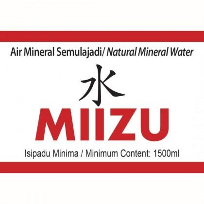 MIIZU Natural Mineral Water 12x1.5L - 10 Cartons Package