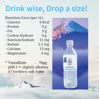 Ichifuji Natural Mineral Water 24x500ml (Free 6 Bottles)